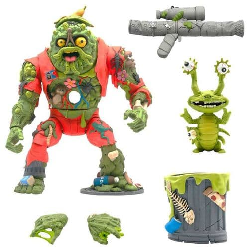 TEENAGE MUTANT NINJA TURTLES ULTIMATES ACTION FIGURE MUCKMAN AND JOE EYEBALL FROM SUPER7
