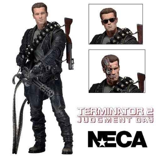 "TERMINATOR 2: JUDGMENT DAY 7"" SCALE ULTIMATE T-800 ACTION FIGURE FROM NECA"