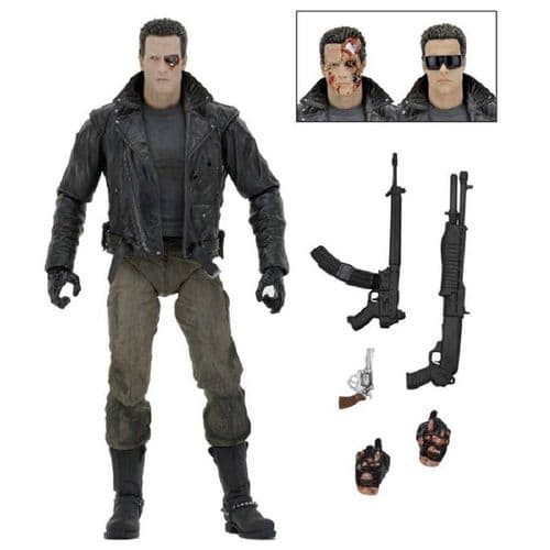 "TERMINATOR 7"" ULTIMATE POLICE STATION ASSAULT T-800 ACTION FIGURE FROM NECA"
