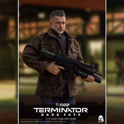 TERMINATOR: DARK FATE 1:12 SCALE T-800 ACTION FIGURE FROM THREEZERO