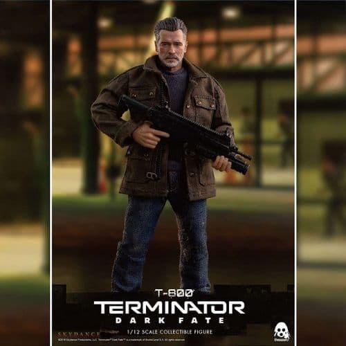 TERMINATOR: DARK FATE 1:12 SCALE T-800 ACTION FIGURE FROM THREEZERO