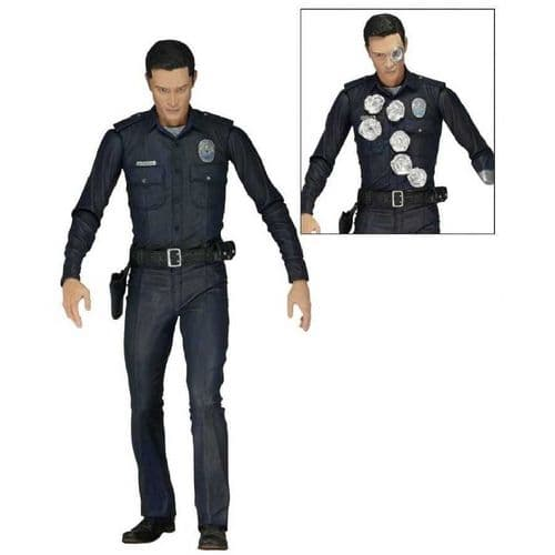 "TERMINATOR GENISYS 7"" T-1000 POLICE DISGUISE ACTION FIGURE FROM NECA"