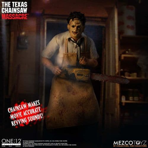 TEXAS CHAINSAW MASSACRE (1974) LEATHERFACE ONE:12 COLLECTIVE DELUXE ACTION FIGURE FROM MEZCO TOYZ