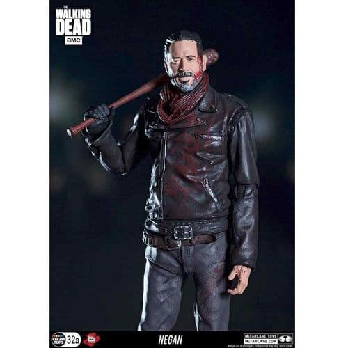 "THE WALKING DEAD TV NEGAN 7"" EXCLUSIVE BLOODY VERSION ACTION FIGURE FROM MCFARLANE TOYS"