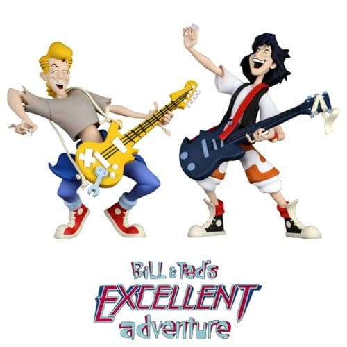 "TOONY CLASSICS BILL AND TED'S EXCELLENT ADVENTURE 6"" BILL AND TED ACTION FIGURE 2 PACK FROM NECA"