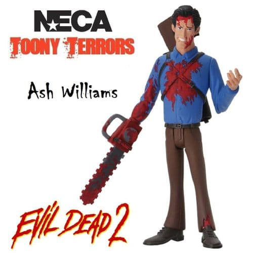 "TOONY TERRORS EVIL DEAD 2 6"" STYLIZED BLOODY ASH WILLIAMS ACTION FIGURE FROM NECA"
