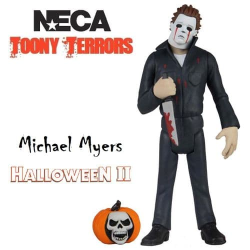 "TOONY TERRORS HALLOWEEN II 6"" STYLIZED BLOODY TEARS MICHAEL MYERS ACTION FIGURE FROM NECA"