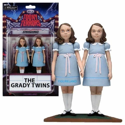 TOONY TERRORS THE SHINING THE GRADY TWINS ACTION FIGURES FROM NECA