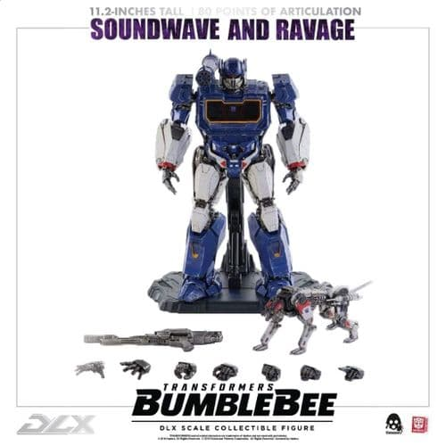 TRANSFORMERS BUMBLEBEE DLX SOUNDWAVE AND RAVAGE ACTION FIGURE 2 PACK FROM THREEZERO