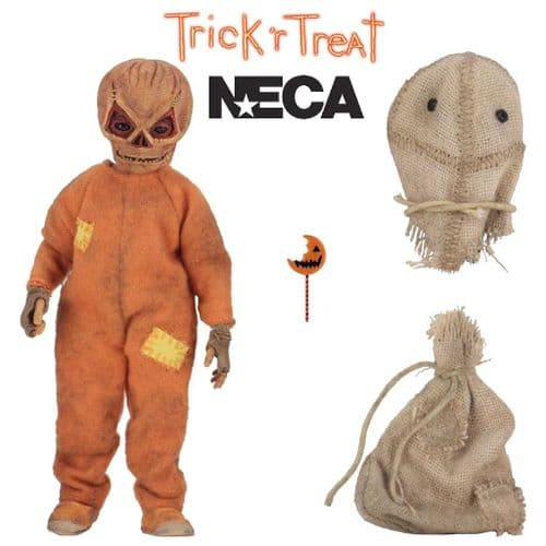 "TRICK 'R TREAT 5"" SAM CLOTHED ACTION FIGURE FROM NECA"
