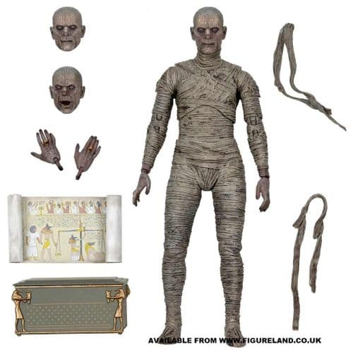 """UNIVERSAL MONSTERS ULTIMATE MUMMY (COLOUR) US EXCLUSIVE 7"""" SCALE ACTION FIGURE FROM NECA"""