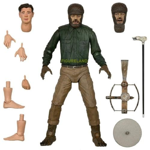 """UNIVERSAL MONSTERS ULTIMATE WOLF MAN (COLOUR) 7"""" SCALE ACTION FIGURE FROM NECA"""