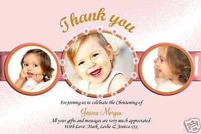 10 Personalised Thankyou PHOTO Cards No45