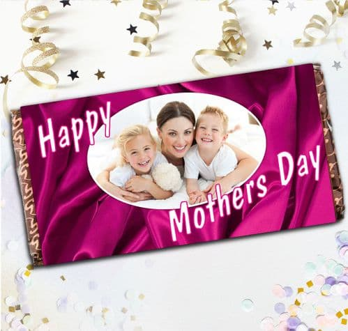 Personalised Mothers Day Milk Chocolate Bar - Happy Mothers Day N2