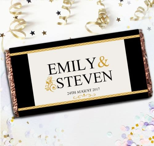 Personalised Wedding Day Milk Chocolate Bar Table Favours Gift Ideas N65