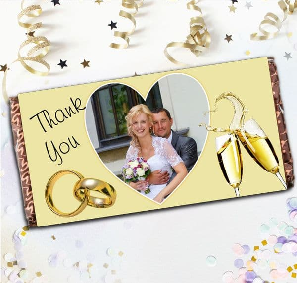 Personalised Wedding Day Thank You Chocolate Bar - Table Favours Gift N18