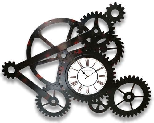 106cm Industrial Metal Gear Wheel Clock