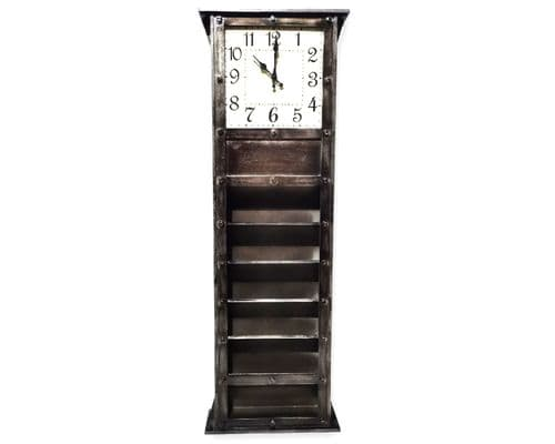 120cm Clock & Industrial Letter Rack