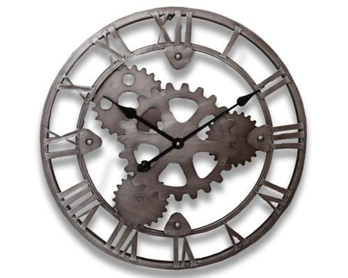 55cm Industrial Metal Gear Wheel Clock
