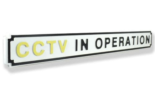 CCTV In Operation New Shape Clean White
